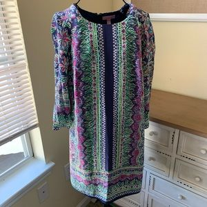 Lily Pulitzer Navy Blue, Green & Pink Dress Size 4